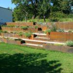 Okrasne terase iz pločevine